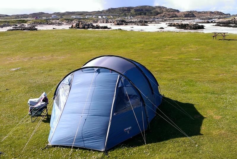 Camping at Fidden Farm, Mull