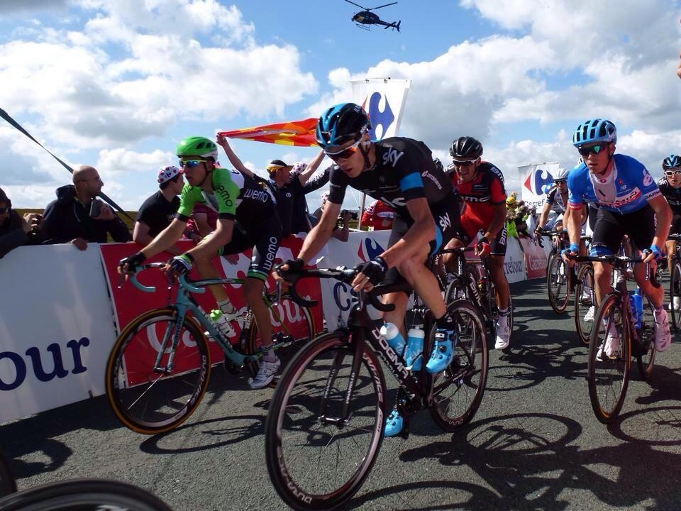 Chris Froome on Grinton Moor