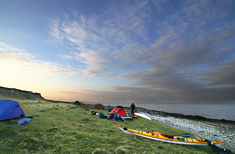 Camp on the NE shore of Arran. Photo: Andy Waddington