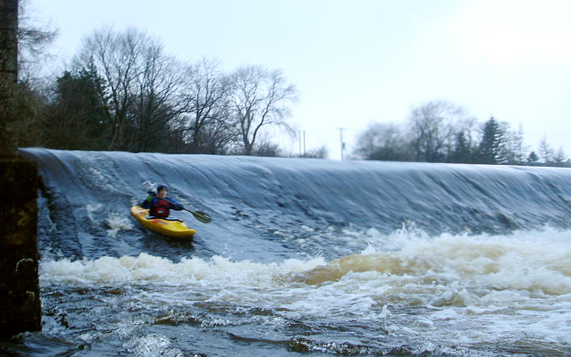 The big weir above Linton. Photo: Andy Waddington