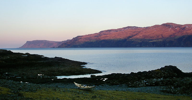 Looking from my campsite in Loch Buie towards Carsaig Arches and Malcolm's Point to the west. Photo: Andy Waddington