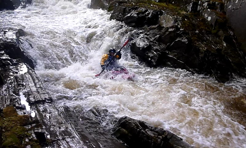 Sarah on the last section of the gorge rapid. Photo: Andy Waddington