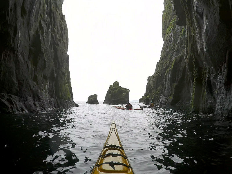 Huge sea cave entrance. Photo: Andy Waddington