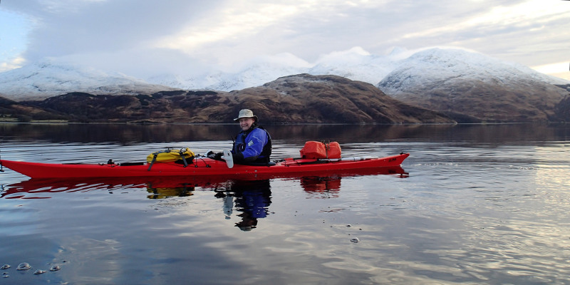 Gareth stunned by the scenery. Photo: Pete Bridgstock