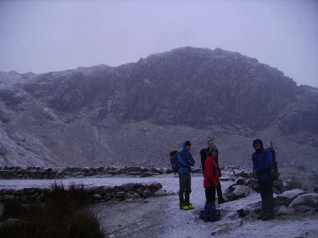 Stickle Tarn before ascent