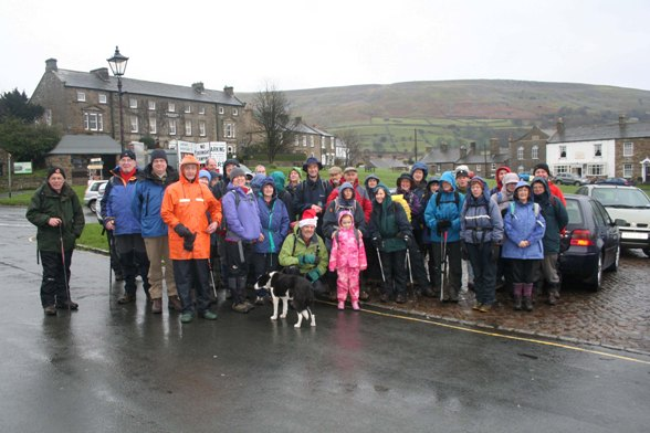 walking group xmas lunch reeth 2011