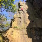 Harry and Ross on Curving Crack (VS 4c) at Heptonstall April 2019