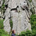 Ross providing a relaxed belay at Crag Lough