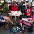 All the pain & suffering was forgotten as we whizzed down the hill into Leyburn to our lunch stop at Chambers Coffee House