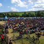 A big crowd at Dales Bike Centre