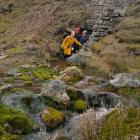 Cavers re-appearing above ground