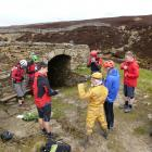 Cavers and mountain bikers meet up